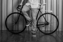 Exposição sobre bicicleta