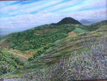 Exposição de pintura de paisagem no interior pernambucano